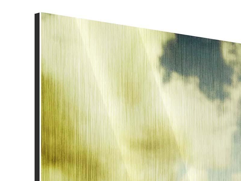 Metallic-Bild 4-teilig Ein Tulpenfeld
