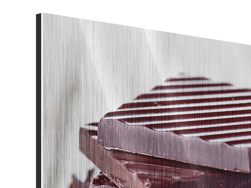 Metallic-Bild Schokistapel