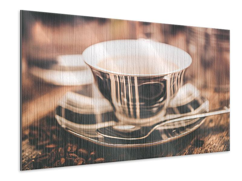 Metallic-Bild Der Kaffee ist fertig