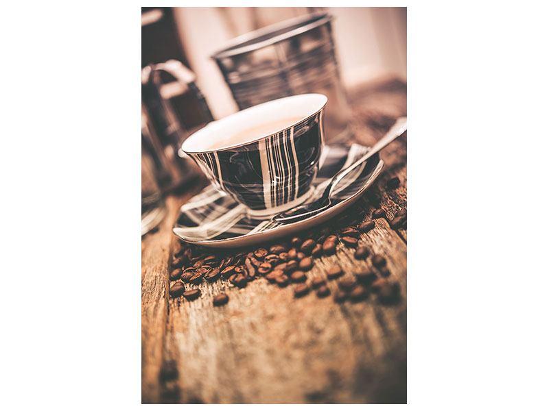 Metallic-Bild Die Tasse Kaffee