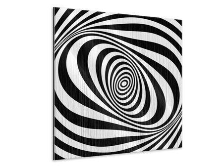 Metallic-Bild Abstrakte Wandbewegung