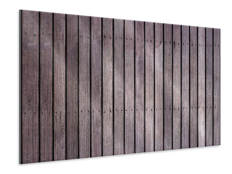Metallic-Bild Holzwand
