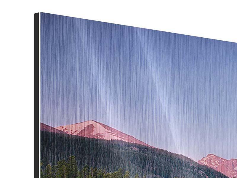 Metallic-Bild Sprague Lake-Rocky Mountains