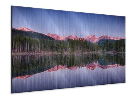Metallic-Bild Sprague Lake-Rocky Mountains
