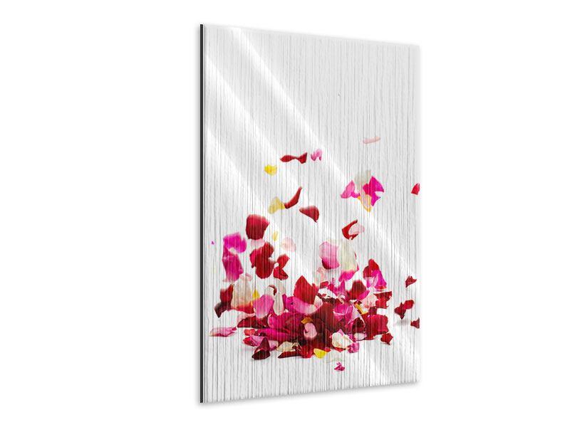 Metallic-Bild Auf Rosenblätter gebettet
