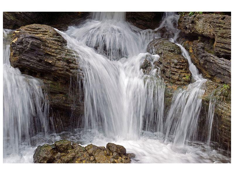 Metallic-Bild Wasserfall XXL