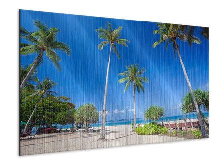 Metallic-Bild Sommer Sonne Strand