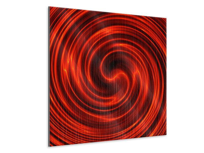 Metallic-Bild Abstrakte Rote Wirbel