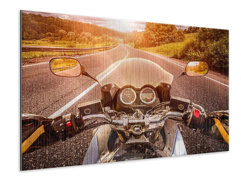 Metallic-Bild Motorrad-Tour