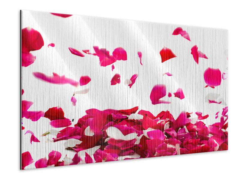 Metallic-Bild Für mich soll`s rote Rosen regnen