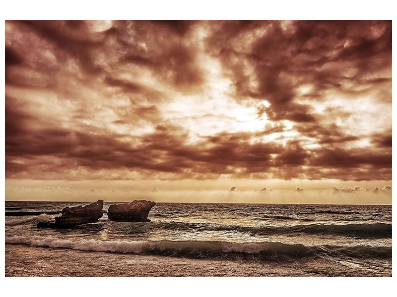 Metallic-Bild Meeresrauschen