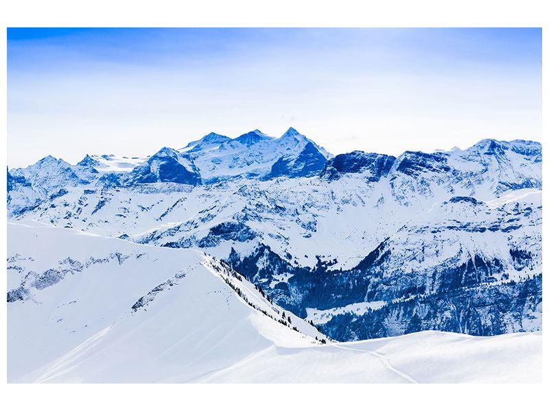 Metallic-Bild Die Schweizer Alpen