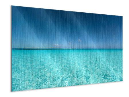 Metallic-Bild Das Meer und Jules Verne