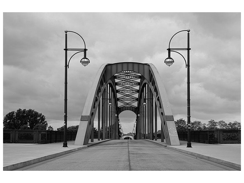 Metallic-Bild Poetische Brücke