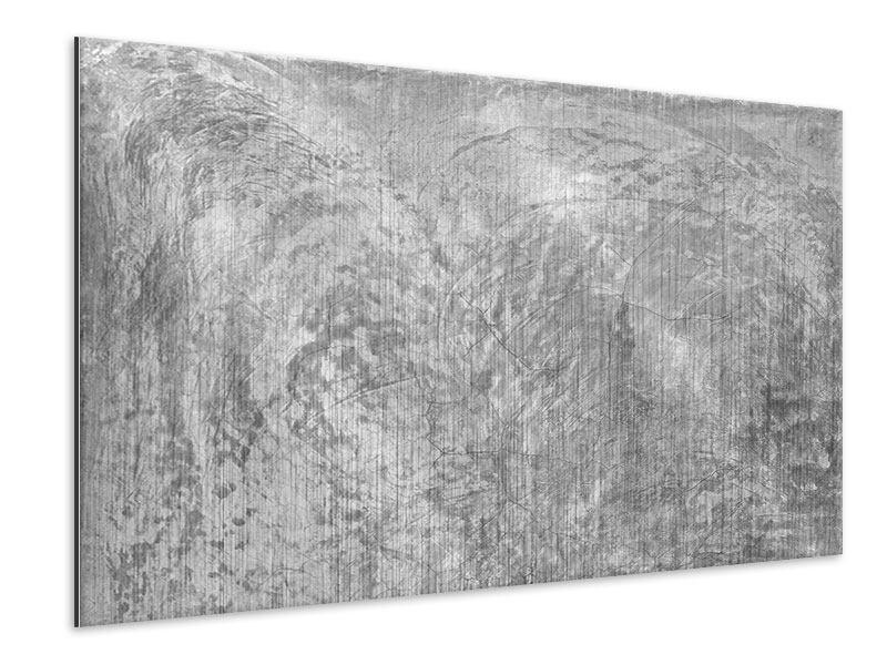 Metallic-Bild Wischtechnik in Grau