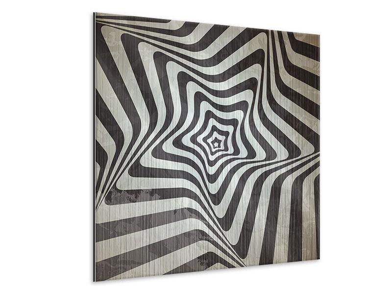 Metallic-Bild Abstrakte Bewegungen