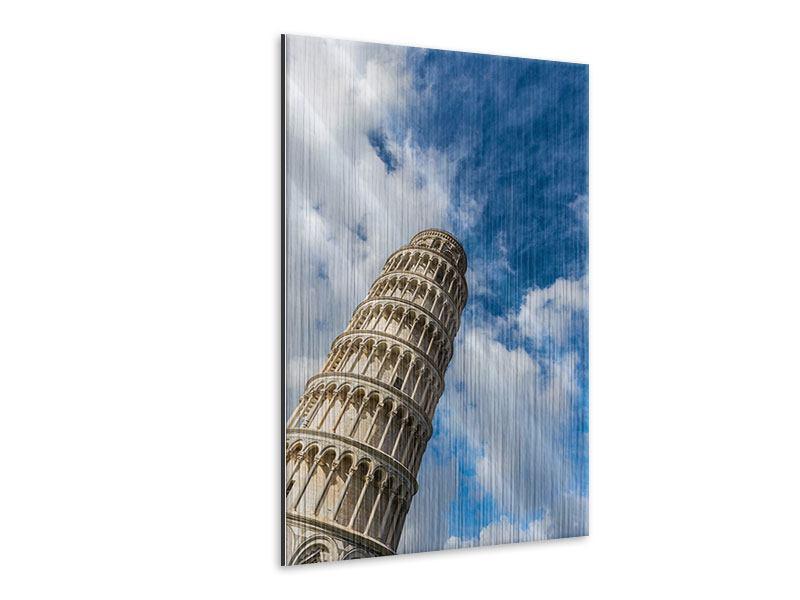 Metallic-Bild Der Tum von Pisa