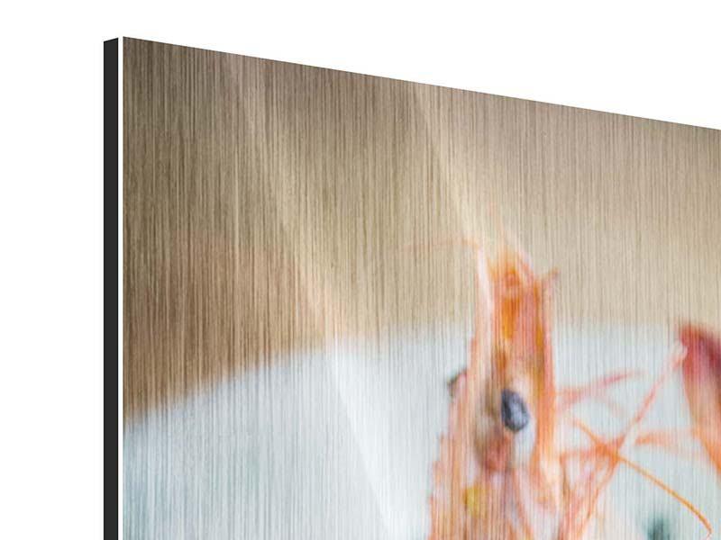 Metallic-Bild Meeresfrüchte