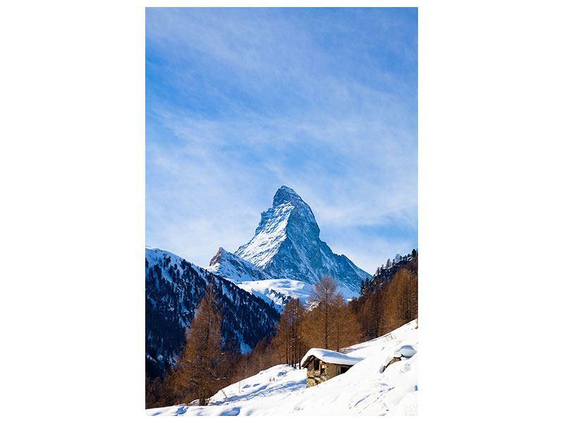 Metallic-Bild Das Matterhorn