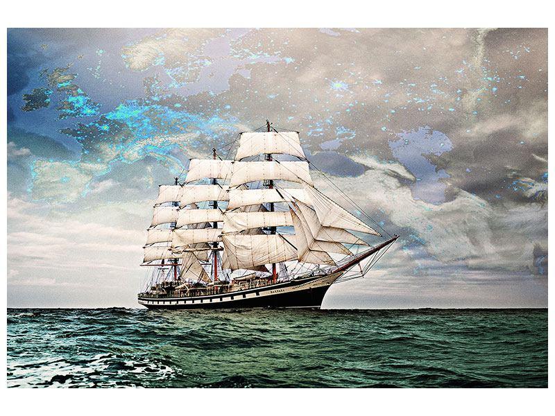 Metallic-Bild Segelschiff