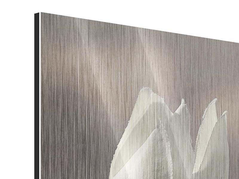 Metallic-Bild Die Tulpe in Sepia