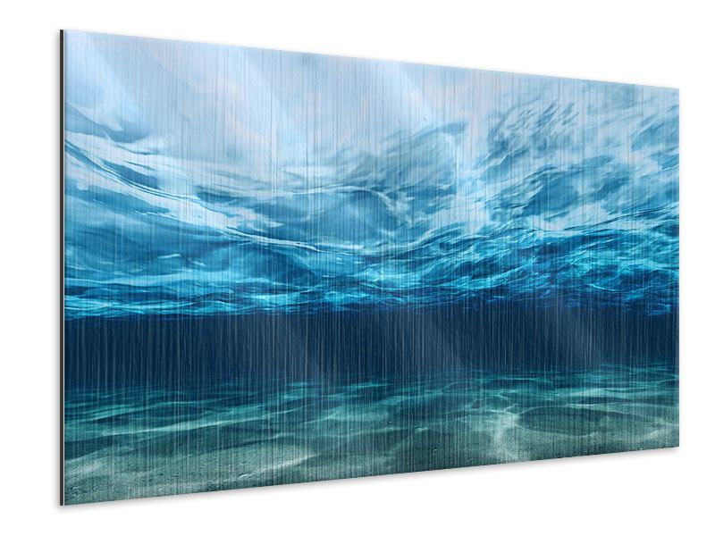 Metallic-Bild Lichtspiegelungen unter Wasser