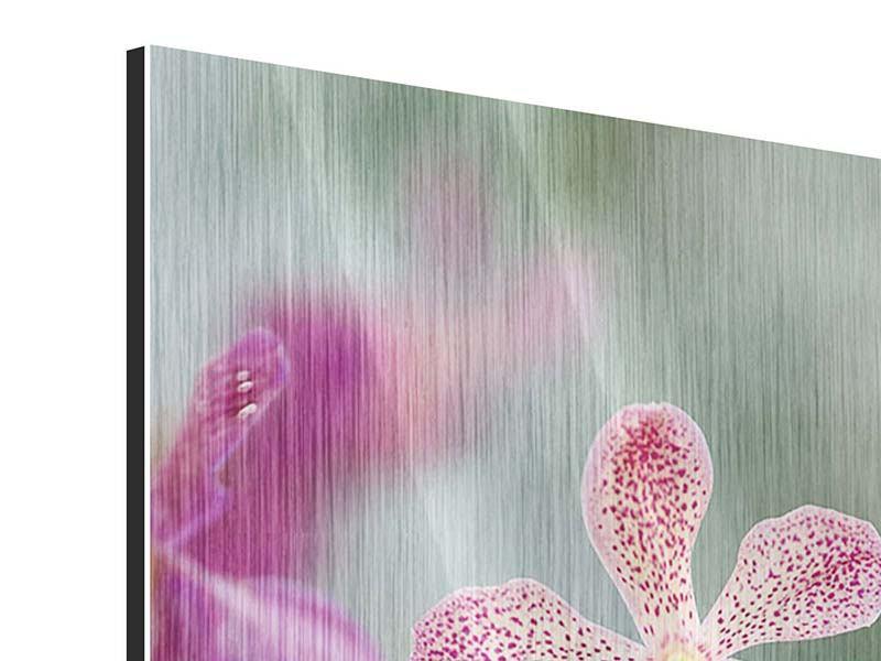 Metallic-Bild Orchidee Pünktchen