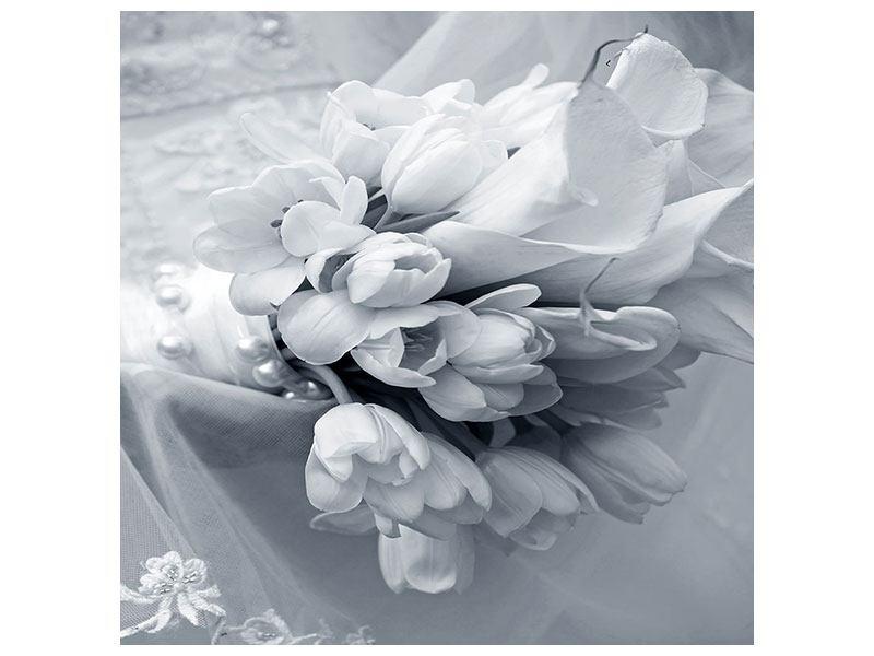 Metallic-Bild Romantisches Tulpenbukett