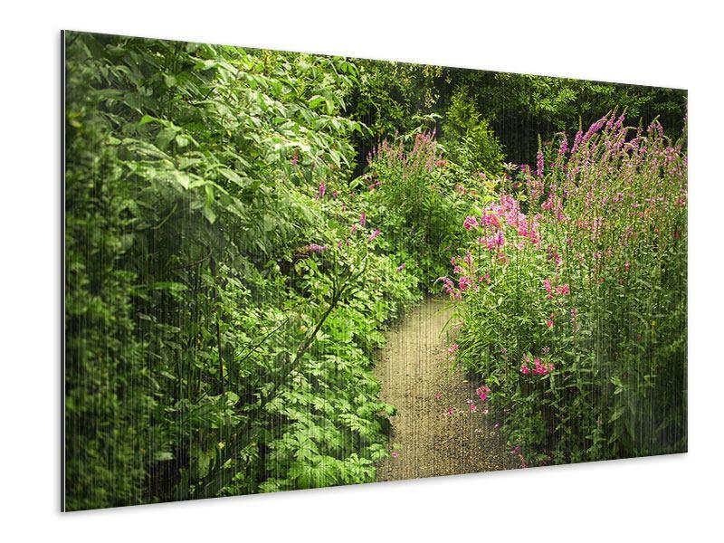 Metallic-Bild Gartenweg