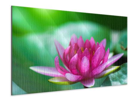 Metallic-Bild Lotus in Pink