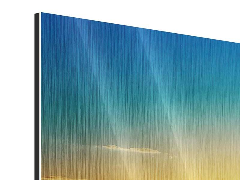 Metallic-Bild Das Meer im Sonnenuntergang