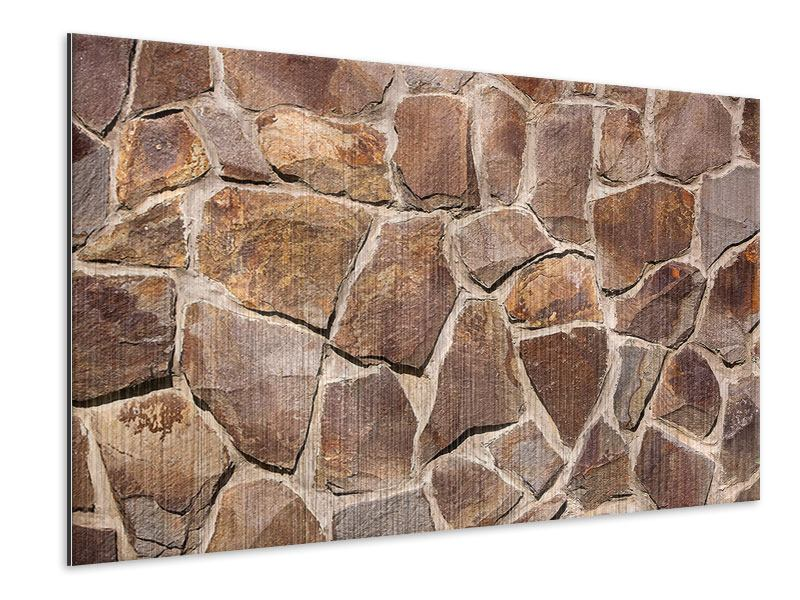 Metallic-Bild Designmauer