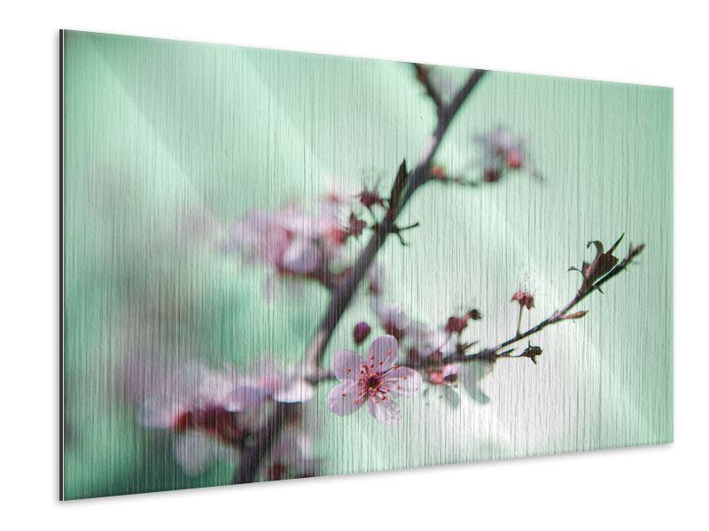 Metallic-Bild Die japanische Kirschblüte