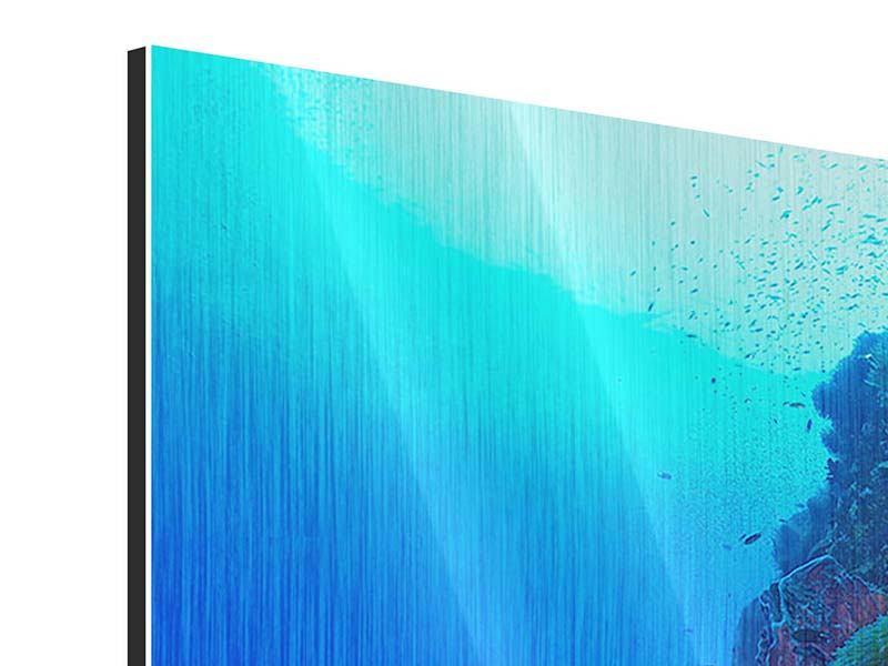 Metallic-Bild Unterwasserwelt