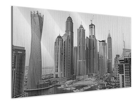 Metallic Print Majestic Skyscrapers In Dubai
