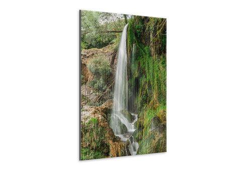 Metallic-Bild Klarer Wasserfall