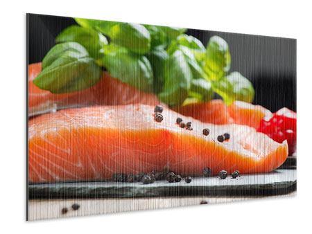 Metallic-Bild Frischer Fisch