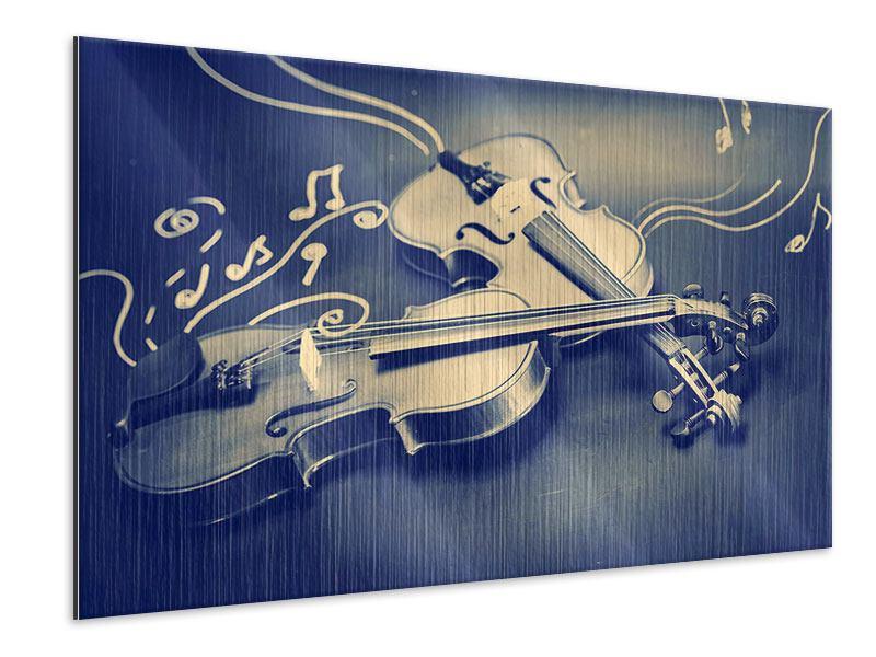 Metallic-Bild Geigen