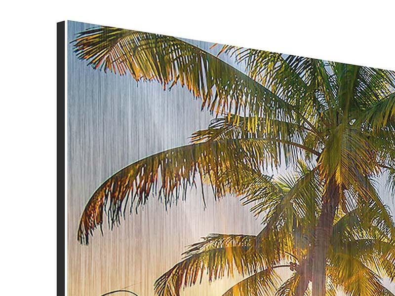 Metallic-Bild Das Strandhaus