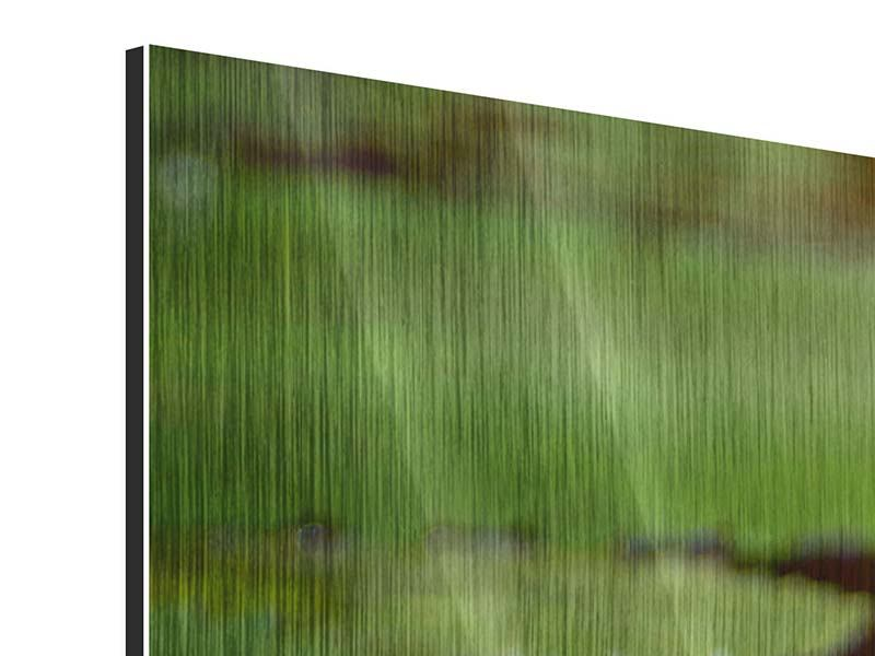 Metallic-Bild Lotus im Wasser