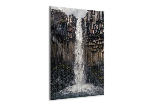 Metallic-Bild Wasserfall Island