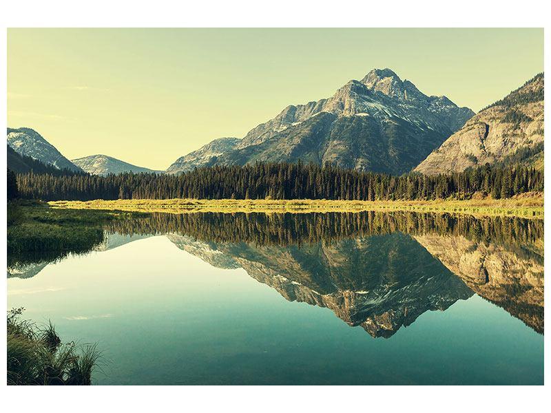 Metallic-Bild Der Bergsee