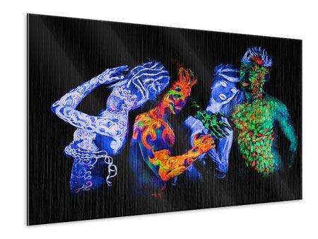 Metallic-Bild Bodypainting