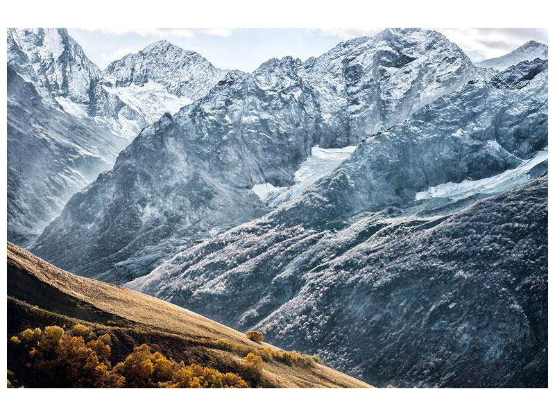 Metallic-Bild Gigantische Berggipfel