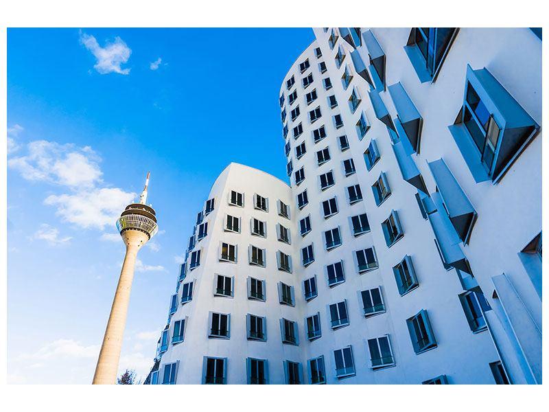 Metallic-Bild Neuer Zollhof Düsseldorf