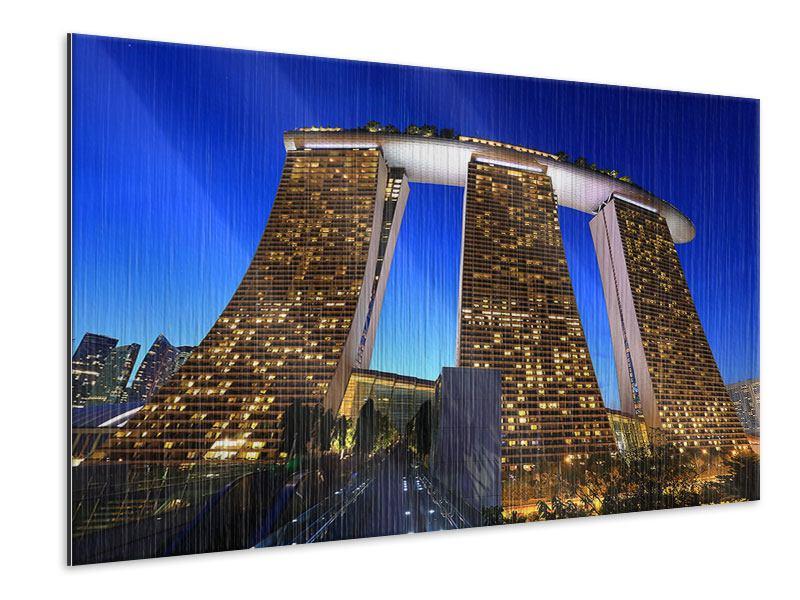 Metallic-Bild Wolkenkratzer Singapur