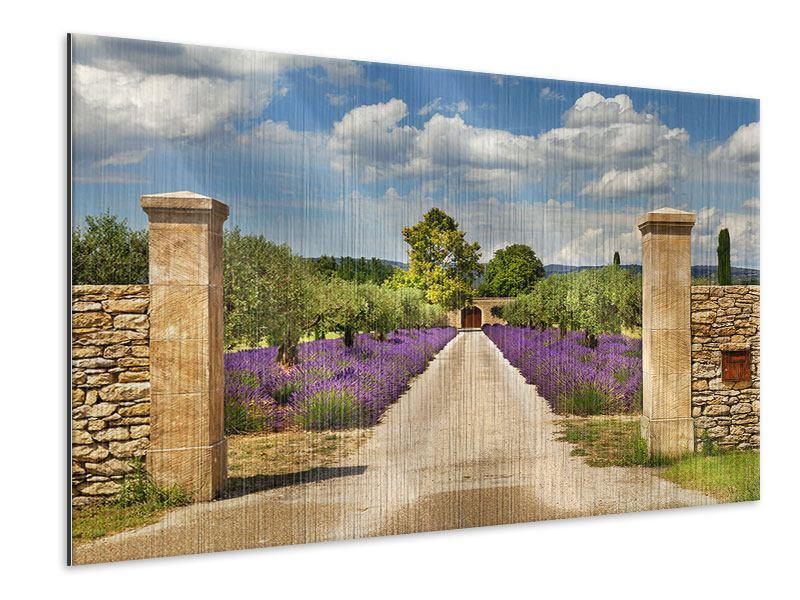 Metallic-Bild Lavendel-Garten