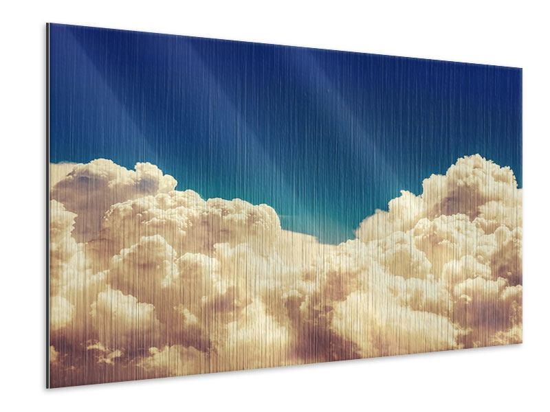 Metallic-Bild Himmelswolken