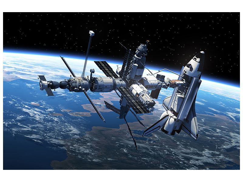 Metallic-Bild Satellit