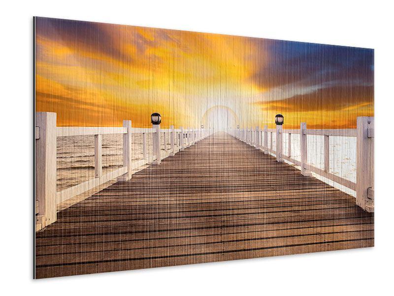 Metallic-Bild Die Brücke Ins Glück